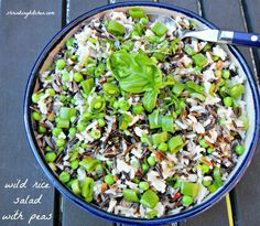 Spring has sprung and this delicious Wild Rice Salad with Peas is the perfect dish for a light dinner on the patio!