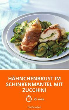 Hähnchenbrust im Schinkenmantel mit Zucchini - tolles Low Carb Rezept!