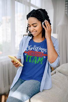 Women's Christmas T Shirt Christmas Baking Team Matching Xmas Shirts Cute Graphic Tee Baker Shirt Ladies Woman