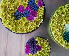 would love to use these as centerpieces someday (flowers peeking from flowers)