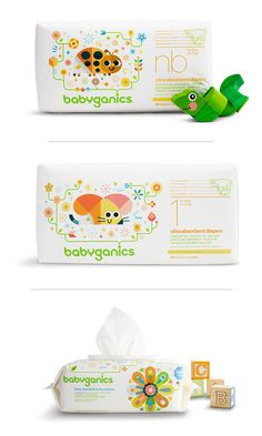 Babies' bottoms need TLC—like Babyganics diapers, made with no toxic or harmful ingredients. Here's to a baby-safe world!