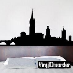 Dublin Ireland Skyline Vinyl Wall Decal or Car Sticker SS129ET by VinylDisorder on Etsy https://www.etsy.com/listing/199197313/dublin-ireland-skyline-vinyl-wall-decal