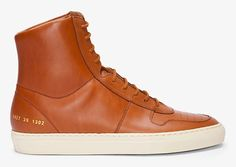 Common Projects High-top Tan Vintage Basketball Sneakers