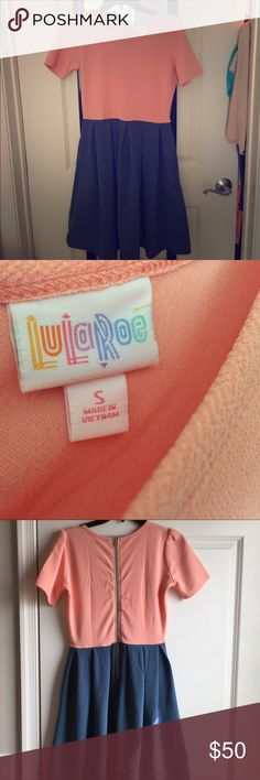 Amelia dress! Never worn LuLaRoe Amelia dress with pockets! Zipper back looks flattering on all body types! LuLaRoe Dresses Midi