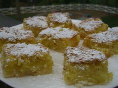 Gluten Free Lemon Bars-happy tummy
