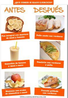 Alimentación antes y después del ejercicio (Fitness Motivation Antes Y Despues)