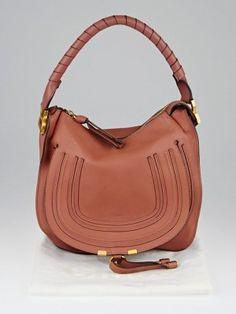13cb5b1a37c8 Chloe Coral Pebbled Calfskin Leather Medium Marcie Hobo Bag