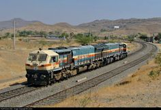 12420 Indian Railways WDG4 twins at Shindavane, Pune, Maharashtra, India