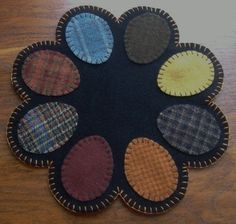 Easter egg penny rug. For inspiration.