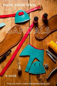 sandals diy, sandal making, make leather sandalsSandal making is a wonderful craft to pursue. I love how it combines creativity and craftsmanship with fashion and functionality.Handcraft your own beautiful leather sandals - pdf eBook. A practical guide wi Diy Leather Sandals, Leather Slippers, Leather Jewelry, Diy Leather Moccasins, Make Your Own Shoes, How To Make Shoes, Leather Gifts, Leather Craft, Sewing Leather