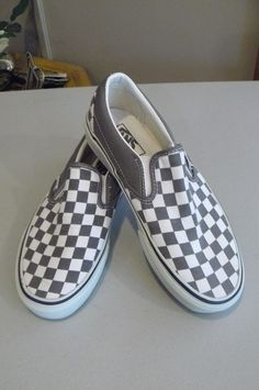 """Authentic Vans Classic Slip-on Pewter Gray/White Checkerboard Shoes Magnificent"""" #Vans #ClassicSliponCheckerboard"""