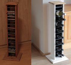 Amazing Repurposed And Reinvented CD Rack To Wine Rack_12