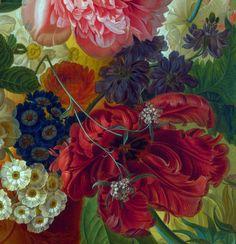 Paulus Theodorus van Brussel - Flowers in a Vase (Detail)