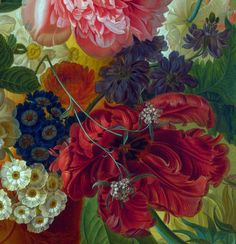 Another magnificent detail from Flowers in a Vase by Paulus Theodorus van Brussel, 1792.