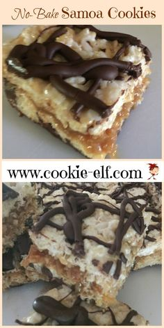 Easy No-Bake Samoa Cookies with The Cookie Elf Classic No Bake Cookie Recipe, Cake Mix Cookie Recipes, Oatmeal Cookie Recipes, Chocolate Cookie Recipes, Cake Mix Cookies, Easy No Bake Cookies, Cookies For Kids, Baking Cookies, Samoa Cookies
