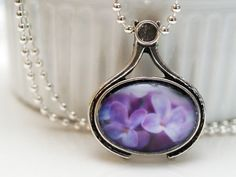 Purple lilacs jewelry  spring lilacs photo  by TheGlassLilyPad, $20.00