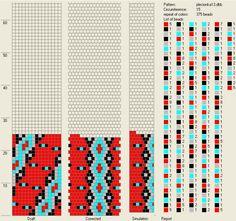 15 around Bead crochet pattern by Jola Kamieńska
