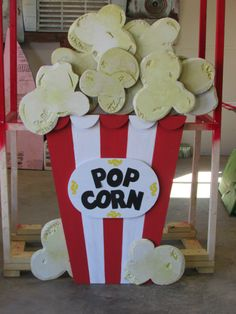 Popcorn made from foam board for VBS props.