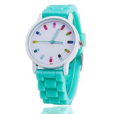 Hot Selling Fashion Candy Color Silicone Quartz Geneva Women Wrist Watch Relogio Feminino Gift 369 #>=#>=#>=#>=#> Click on the pin to check out discount price, color, size, shipping, etc. Save and like it!