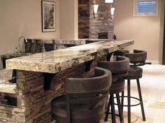 Stone Bar Design Ideas, Pictures, Remodel, and Decor - page 11