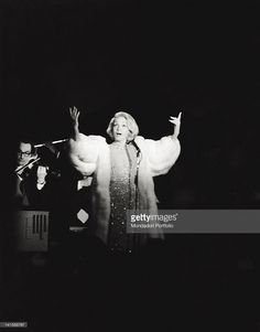 Marlene Dietrich during her evening at the Bussola. Viareggio, 1972.