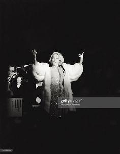 Marlene Dietrich during her evening at the Bussola. Viareggio, 1972.