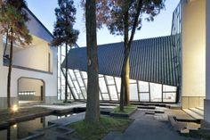 jixi museum's landscape design China Architecture, Museum Architecture, Architecture Design, New Chinese, Chinese Style, Asian Style, Park Landscape, Landscape Design, Museum Hotel