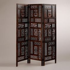 One of my favorite discoveries at WorldMarket.com: Carved Rena Screen $200
