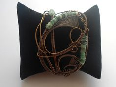 Emerald Wire Wrapped Cuff Bracelet £26.99