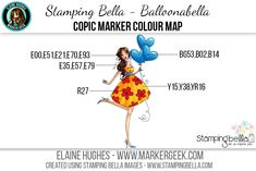 Stamping Bella - Bella 2.0 - Balloonabella Copic Colour Map www.markergeek.com
