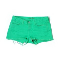 Pre-owned J Brand Denim Shorts ($33) ❤ liked on Polyvore featuring shorts, green, j brand, green shorts and j brand shorts