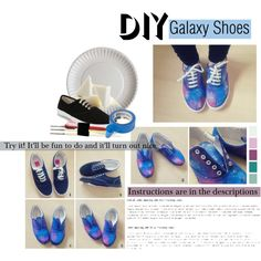 DIY Galaxy Shoes by kantastic on Polyvore