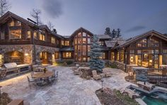 Dream House: Colorado Wood & Stone Mansion (18 Photos) – Suburban Men