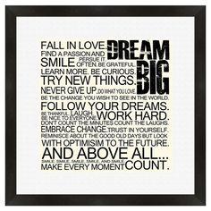 Big Dreams Framed Print