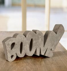 Boom! Concrete Sculpture by HandMadeFont #type #design