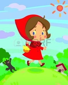 Little red riding hood girl story fairy tale on run in a little dreamy world of kid and children, create by vector Little Red Riding, Red Riding Hood, Hood Girls, Cartoon People, Children, Kids, Fairy Tales, Character Design, Royalty Free Stock Photos
