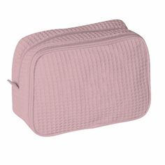 Waffle Weave Cosmetic Bag - light pink Love Gifts, Gifts For Mom, Best Gifts, Embroidered Gifts, Wedding Gifts For Bridesmaids, Bag Making, Cosmetic Bag, Personalized Gifts, Weaving