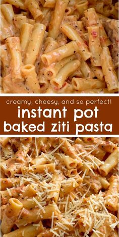 """Perfect Instant Pot Baked Ziti Instant Pot Recipe Pressure Cooker Baked Ziti Baked Ziti is a family favorite dinner that's made even easier when you """"bake"""" it in an Instant Pot! 15 minutes start to finish and only a few simple ingredients. Instant Pot Pasta Recipe, Best Instant Pot Recipe, Instant Pot Dinner Recipes, Recipes Dinner, Easy Family Dinner Recipes, Family Dinner Ideas, Quick Family Dinners, Recipe Pasta, Family Recipes"""