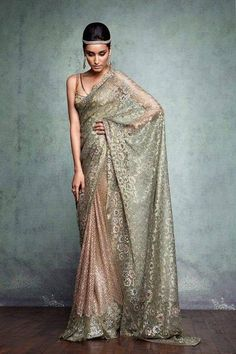 Exquisite http://www.TarunTahiliani.com/index.html#/HOME Gold & Blush Saree