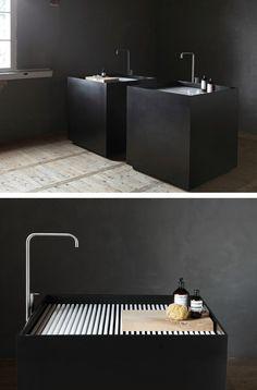 Freestanding Carrara #marble washbasin SCAPE MONOLITH by @notonlywhite #black