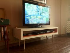 IKEA Hackers: Mid-Century Lack TV Hack, but side table hack instead with the ikea lack with coasters