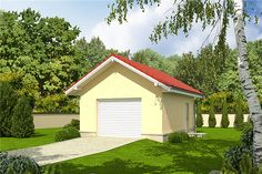 Projekt domu Simon energo plus - koszt budowy 239 tys. Modern Bungalow Exterior, Bungalow House Design, Modern House Design, Facade House, Small House Plans, Bathroom Interior, Shed, Outdoor Structures, How To Plan