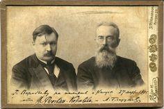 Alexander Konstantinovich Glazunov (1865-1936) et Nicolas Rimsky-Korsakov en 1905.