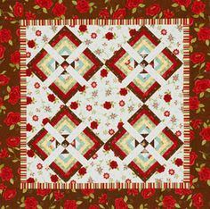 Another great quilt made from Rebel Roses by Heather Mulder Peterson for Ankas Treasures and Henry Glass; from AllPeopleQuilt.com. LOVE that fabric!!