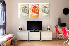 Creamy Dreamy Roses Triptych by Jenny Rainbow Website: http://jenny-rainbow.pixels.com/  Black blue colored abstract patterns resembling opening flowers with intensive white creamy light.  Mystery of Colors. Abstract for Home Decor. Exquisite mix of colors for meditation, relaxation, inspiration and healing vibrations in home, office space and other interiors. #AbstractAart #HomeDecor #InteriorDesign #Colors #Multicolored #Abstract #Rose #FloralArt