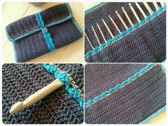 Cute Crochet, Hand Crochet, Knit Crochet, Crochet Bags, Crochet Hook Case, Crochet Hooks, Stitch Patterns, Loom Knitting, Appliques