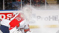 It's funny to see this but as a goalie shards of ice f'ing hurt your eyes...
