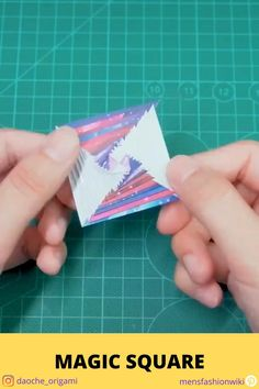 How to make a magic square flowers videos Origami geometric shapes tutorials - Making square Diy Crafts Hacks, Diy Crafts For Gifts, Diy Arts And Crafts, Creative Crafts, Paper Crafts Origami, Paper Crafts For Kids, Instruções Origami, Origami Videos, Origami Candy