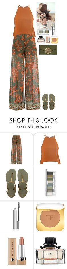 """Summer outfit"" by eliza-redkina ❤ liked on Polyvore featuring Valentino, Glamorous, Havaianas, Spell & the Gypsy Collective, Clinique, Tom Ford, Marc Jacobs, Gucci, Dareen Hakim and StreetStyle"