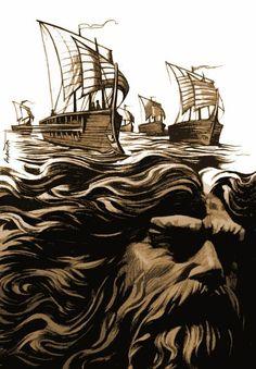 Poseidon - Illustration by Renato Alarcão